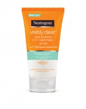 Neutrogena® Visibly Clear® Clear & Protect 2-in-1 Wash Mask