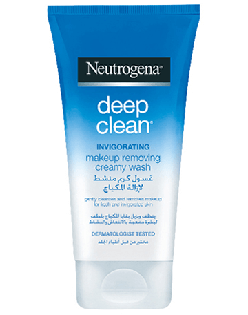 Deep Clean Make Up Removing Creamy Face Wash Neutrogena Skincare
