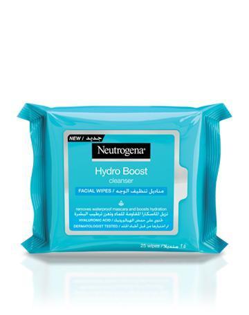 نيوتروجينا مناديل تنظيف الوجه هيدرو بوست